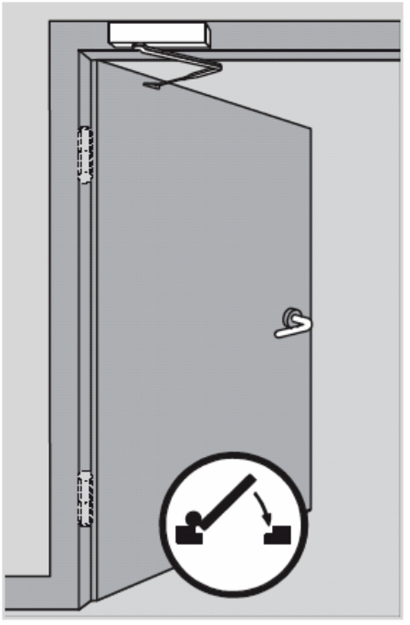 монтаж доводчика на дверную коробку