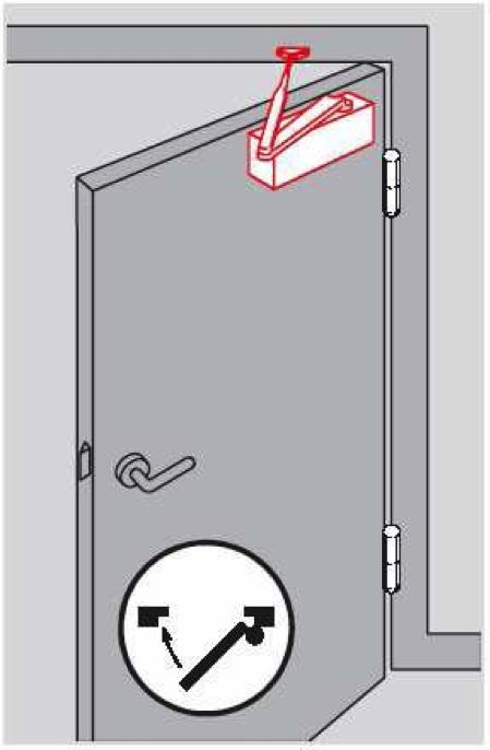 монтаж доводчика на дверное полотно