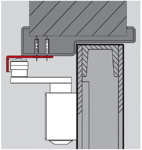Монтаж доводчика с использование монтажного уголка