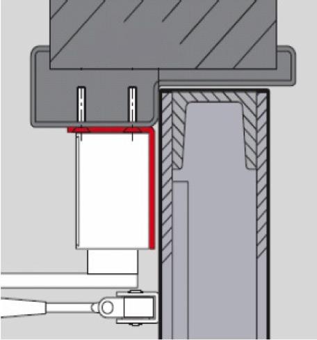 Монтаж доводчика с использованием монтажной угловой пластины