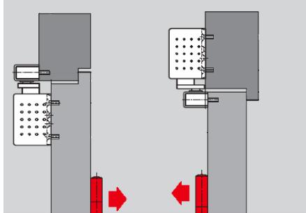 Установка доводчика на коробку со стороны петель, или на дверное полотно со стороны противоположной петлям.